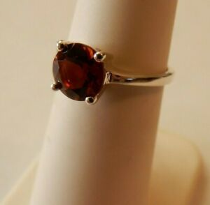 Size 5 Genuine Madeira Citrine Solitaire 925 Sterling Silver Ring 1.08cts