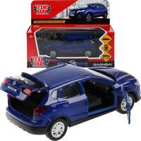 Nissan Qashqai Blue Diecast Model Car Scale 1:36
