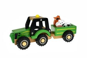 Wooden Tractor Truck Toy With Wood Animals