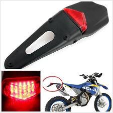 Universal Motor Motocross Red 12V 12LED Fenders Stop Break Light Rear Tail Light