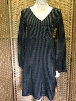Ladies Black Notch Designer Penelope Dress By CREAM Winter UK Size 10/12 BNWT