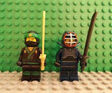 2 LEGO Brand New Ninjago Mini Figures Ninja Shamshir Helmet Kendo & Face Scarf