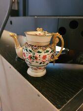 Nini-Handpainted-Floral Shaped Urn Teapot item #6-2 No Box