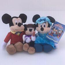 Disney Store Mickey's Christmas Plush Set 8 Holiday Stuffed Toy Tiny Tim Retired