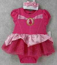 Disney Pink Princess Cuddly Bodysuit Outfit & Headpiece Size 6 months NWT
