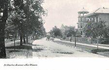 New Orleans,LA.St.Charles Avenue,Horse Drawn Wagon,c.1901-06