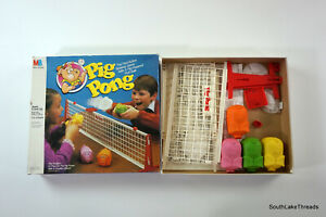 Vintage Pig Pong Board Game by Milton Bradley W/ Box & Instructions