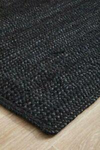 Carpet Natural Jute Woven Black Double-sided Rug Hemp Rug Living Small Rug