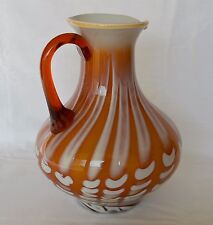Krug, Kanne aus Glas 22,5cm hoch 1500 Gramm Glashütte Prokuplje Jugoslavija, Ser
