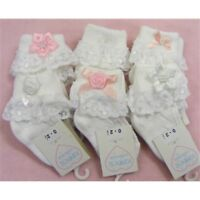 Kinder Baby Girls Bows Flowers & Lace Frilly Ankle Socks Romany Spanish Style