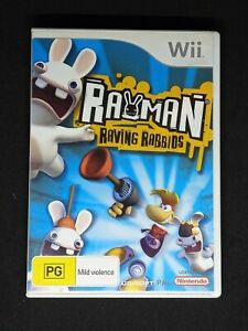 Rayman Raving Rabbids Nintendo Wii Game PAL Complete with Manual Free Post VGC
