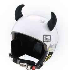 Stierhörner schwarze Hörner Horn für Skihelm Helm Ohren Black Horn Horns Ear Ski