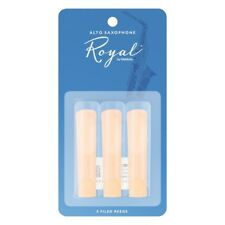 3 Pack of Royal by D'Addario (Rico Royal) Alto Saxophone Reeds 2.0 Strength