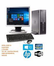 """Windows 10 Full HP Intel Core i5 8GB 2TB Power full Fast + 19"""" Monitor Full SET"""