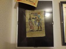 Papyrusbild Isis et Osiris avec certificat de kardonas icones GmbH avec cadre