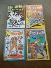 Lot of 4 Marvel Comics Spider-Man Comic Books 1984-6 #135 #163 #187 #189