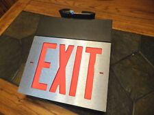 New Dual-Lite Spectron Emergency Exit Light Sign Service Alert