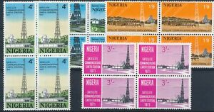 [P5743] Nigeria 1971 good set in block of 4 stamps very fine MNH