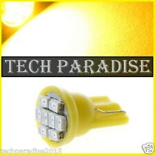 100x Ampoule T10 / W5W / W3W LED 8 SMD 1206 Jaune Yellow veilleuse lampe light