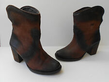 MIZ MOOZ DISTRESSED BROWN LEATHER ANKLE BOOT WOMEN SIZE US 8 SEXY HOT