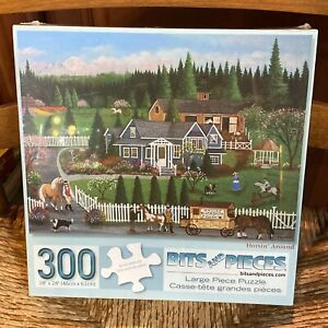 """Bits & Pieces 300 Large Piece Jigsaw Puzzle """"Horsin' Around"""" 18""""x24"""" New Sealed"""