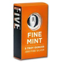 Lingot 5 onces Argent .999 emballé 9Fine