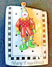 "Vintage Mary Engelbreit Clown Button - Clipped Card - 2 1/4"" Tall"