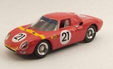 Ferrari 250 Le Mans 1° A Zolder 1964 L. Bianchi #21 Winner Best 1:43 Be9486