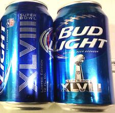 Bud Light Super Bowl 48 XLVIII beer 2013 NFL Ltd Edition 12oz can empty Bot Open