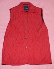 RED // GREEN ♥ gesteppte  Weste ♥ Gr. L  ♥ *TOP* ROT mit Taschen ♥ RED and GREEN