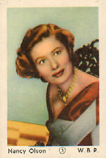 DUTCH MOVIE STAR GUM CARDS - No. 003  NANCY OLSON