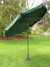 9 Foot Forest Green Outdoor Patio Deck Market Umbrella