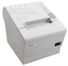 Epson TM-T88IV POS Thermal Printer, Cool White, Serial w/ Power Supply, NEW