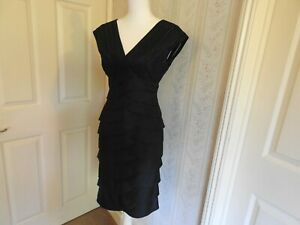 """Beautiful Adrianna Papell Designer Black Occasion Dress Size 4 (pit to pit 16"""")"""