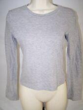 Wet Seal Gray Long Sleeve Knit Crewneck Basic Top Juniors Size Small 3 5