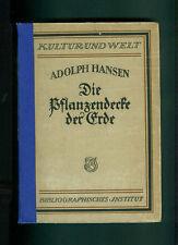 La copertura vegetale della terra Adolph Hansen generali piante geografia 1920