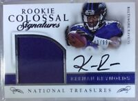 2016 National Treasures Rookie Colossal KEENAN REYNOLDS Patch OC Auto /99 Ravens