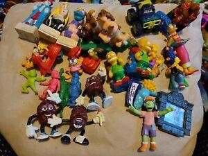 Lot of Toy Figures Vintage 1980's 90's beetlejuice, Simpsons, Scooby-Doo, raisin