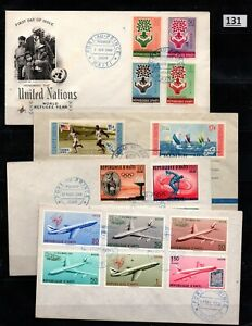 /// D'HAITI, DOMINICAN REP - 4 COVERS - REFUGEES, PLANES, OLYMPICS