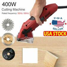 Portable Mini Electric Circular Saw Woodworking Tool with Cutting 3 Blades Usa