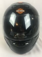 Harley Davidson Full Face Motorcycle Helmet Men's Black And Orange Vented S. XL