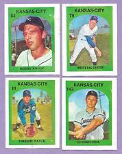 "KC ROYALS ""4 CARD LOT"" 1972 VENEZUELAN STAMPS VENEZUELA KANSAS CITY KNOOP PATEK"