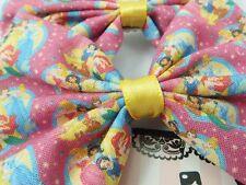 Hot Pink Princesses Handmade Fabric Hair Bow Girly Princess Hair Clip