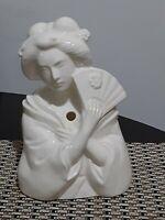 Vintage Benihana of Tokyo White Ceramic Giesha Tiki Glass