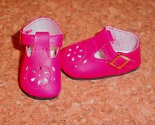 Doll Shoes FUSCHIA 44mm T-Straps for Ellowyne, Patience & NuMood