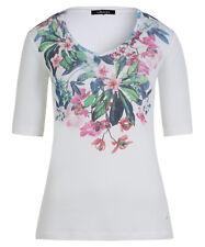 OLSEN T-Shirt EDDA GR. 40 *NEU* Shaped Fit Blumen-Print Sommer Bluse Oberteil