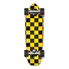 Checker Brown Complete Longboard Mini Cruiser Skateboar