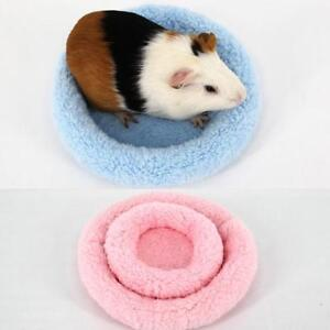Rabbit Guinea Pig Nest Cage Warm Mat Hamster House Small Animal Sleeping Bed Y3