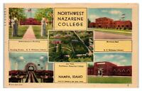 1947 Northwest Nazarene College, Nampa, ID Postcard *6J25