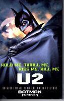 U2 Bono Batman Forever Hold Me Thrill Me Kiss Me Kill Me Cassette Tape Single